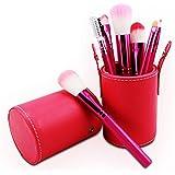 7 PCs Makeup Brush Barrel Beauty Tools Red