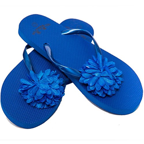 Azul Playa Fairee Chanclas Airee para Flor y para Mujer Piscina qOntARzU