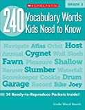 240 Vocabulary Words Kids Need to Know: Grade 3: 24 Ready-to-Reproduce Packets Inside!