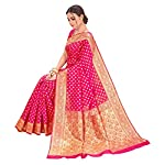 Glory Sarees Women's Banarasi Silk Saree With Blouse Piece