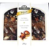 Fresh Sorted Seashells Shape Chocolates, Finest Belgian Chocolate Selection 250g (Seashells Shape, 3 Packs)