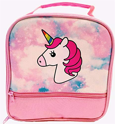 Unicorn Lunch-Box for Girls. Pink Lunch Bag with Rainbow Horn. Large School Lunch-Boxes, Gifts for Little Girl Kids & Toddlers. Cute Tote. Insulated. BPA Free. ()