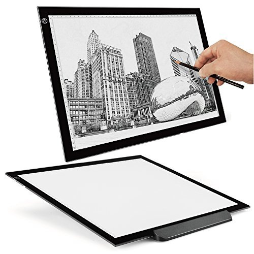 Flexzion A3 Artist Light Box Tracing Table Pad Drawing Board Tablet - Portable Ultra-Thin LED Illumination w/Multi-Level...