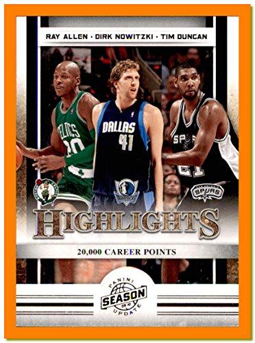 2009-10 Panini Season Update #3 Ray Allen BOSTON CELTICS Dirk Nowitzki Germany DALLAS MAVERICKS Mavs Tim Duncan SAN ANTONIO SPURS