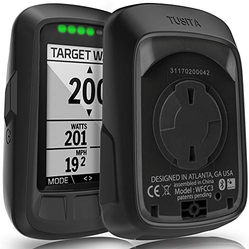 TUSITA Case for Wahoo Elemnt Bolt - Silicone Protective Cover - GPS Bike Computer Accessories (Black) ()