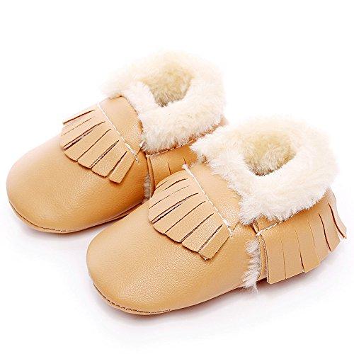 Hunpta Baby Schneestiefel weiche Sohle weiche Krippe Schuhe Kleinkind Stiefel (Alter: 12 ~ 18 Monate, Gelb) Gelb