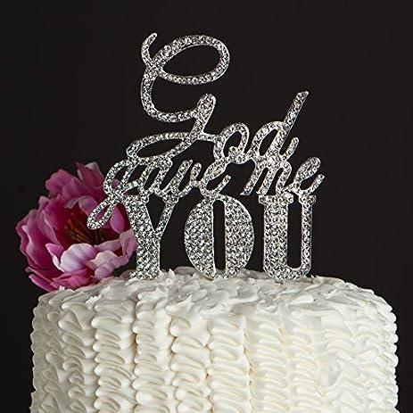 Amazon god gave me you wedding cake topper silver religious god gave me you wedding cake topper silver religious christian party decoration junglespirit Choice Image