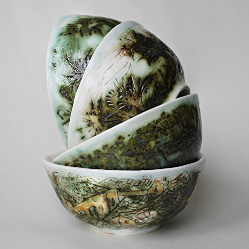 ceramic-bowls-set-green-olive-hand-painted-artistic-ceramic-soup-bowls-green-white-serving-bowl-sala
