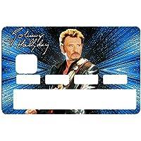 Deco-idees Stickers Autocollant pour Carte bancaire, Johnny Hallyday, 2émé Edit. limitée 300 ex - 1 sur 300 - Autocollant de Haute qualité