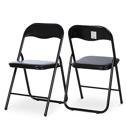 Silla plegable, silla de respaldo de oficina en casa de ...