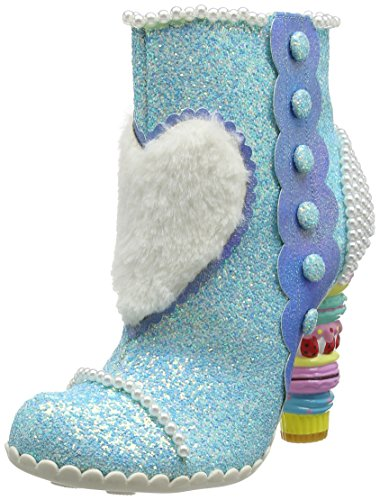 Bee Boots Womens High Ankle Delicious Blue Heeled Irregular Choice TwqxrqM07E