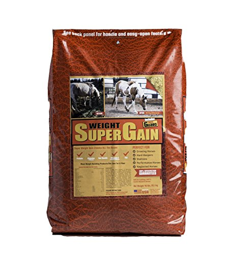 Horse Guard Super Weight Gain Equine Vitamin Mineral, Probiotic & Weight Gain Supplement, 40 lb by Super Weight Gain