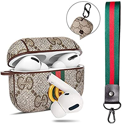 Designer Airpods Pro Case Cover Giayouneer Leather Luxury