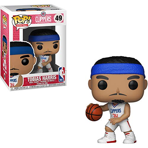 (Funko Tobias Harris [Clipper]: NBA x POP! Sports Vinyl Figure & 1 POP! Compatible PET Plastic Graphical Protector Bundle [#049 / 34430 - B])