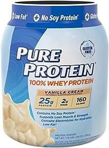 Pure Protein 100% Whey Powder - Vanilla Cream, 1.75 pounds