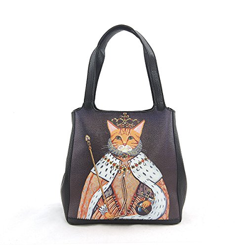 ashley-m-queen-kitty-in-throne-tote-bag-in-vinyl-material
