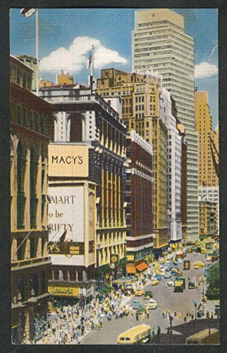 Macy's Broadway & 34th Street New York City NY postcard - 34th Macys