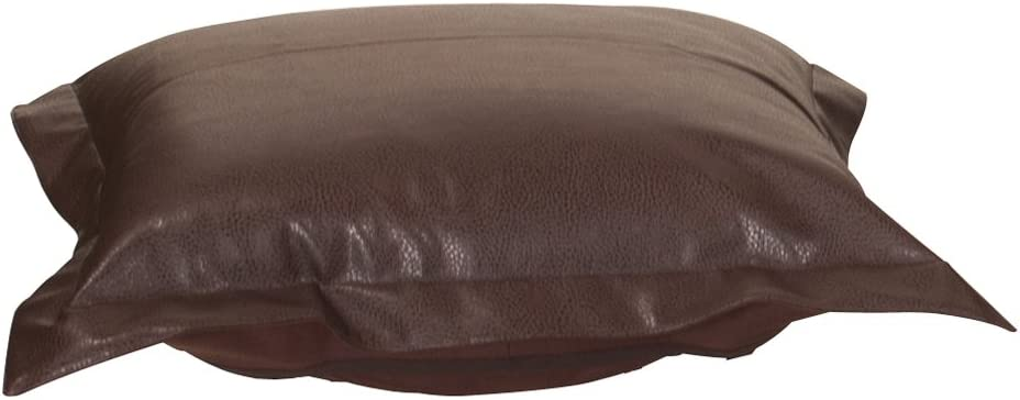 Howard Elliott Puff Ottoman Cushion With Cover, Avanti Pecan