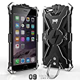 Iphone 6 Plus 6s Plus Case, Lwang Outdoor Sports Strong Protective Case for Iphone 6 Plus 6s Plus,[tempered Glass Screen Protector][silicone Case][aviation Aluminum Cover] (Thor Black/black)