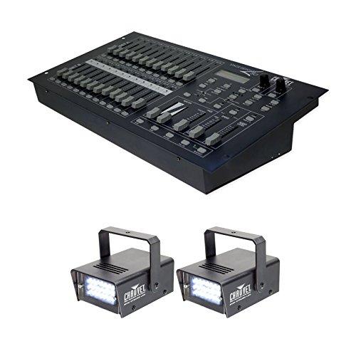 Dimmer Console (Chauvet DJ STAGE DESIGNER 50 48 Ch. DMX-512 Dimmer Controller+(2) Strobe Lights)