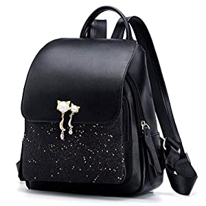 FOXER Women Leather Backpack Purse Small Backpack Casual Shoulder Bags