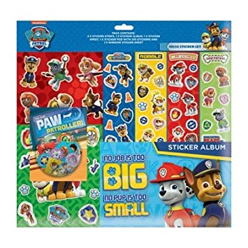 Paw Patrol Mega Sticker Set (Chase, Rubble, Marshall, Zuma, Everest,