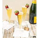 72 Premium Plastic Champagne Flutes - Bulk One
