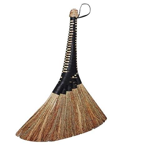 Amazon com: YJFENG Straw Broom Sweeping Dust Big Broom Head