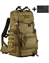 ArcEnCiel Tactical Travel Backpack MOLLE Hiking Rucksack Outdoor Travel Bag for Travelling Trekking Camping Hiking...
