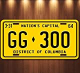 Forever Signs Of Scottsdale JFK Presidential Limousine Washington DC GG 300 Aluminum Replica License Plate