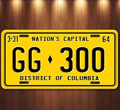 Forever Signs Of Scottsdale JFK Presidential Limousine Washington DC GG 300 Aluminum Replica License Plate