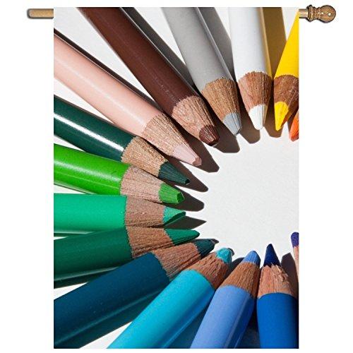 PILLO Welcome Pineapple Garden Flag Colorful Pencils Single-