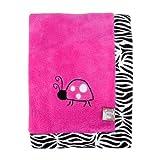 Trend Lab Zahara Zebra Framed Receiving Blanket, Pink
