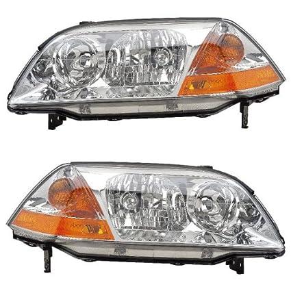 amazon com 2001 2002 2003 acura mdx headlight headlamp halogen Acura MDX Headlight Bulb amazon com 2001 2002 2003 acura mdx headlight headlamp halogen composite front head lamp light pair set left driver and right passenger side (01 02 03)