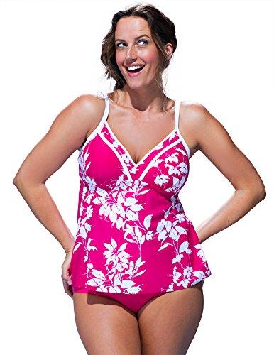 b10fc9c60cf0 Shore Club Women s Plus Size Tusk Frame Tankini 18 Ivory. A Shore Fit ...