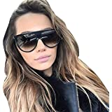 Sunglasses, Mchoice Fashion Unisex Vintage Shaded Lens Thin Glasses Fashion Aviator Mirror Lens Sunglasses (