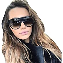Sunglasses, Mchoice Fashion Unisex Vintage Shaded Lens Thin Glasses Fashion Aviator Mirror Lens Sunglasses (D)