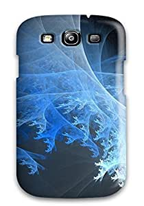 Galaxy S3 Case Cover - Slim Fit Tpu Protector Shock Absorbent Case (blue Abstract)