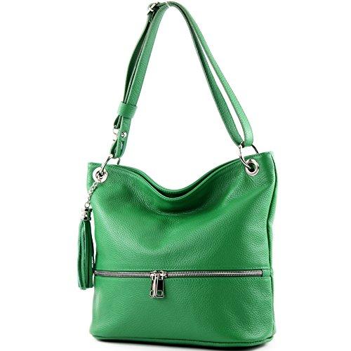 bag de bag Shoulder Leather Leather T143 bag ital Modamoda bag Shoulder Green RpBqU6
