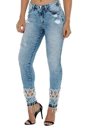 092a355b9 Calça Jeans Denuncia Mid Rise Skinny Azul 42: Amazon.com.br: Amazon Moda
