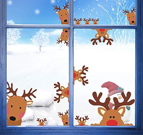 reindeer window decals christmas rudolph