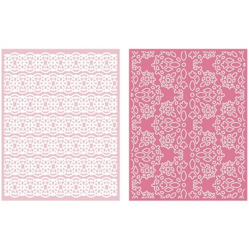 QUICKUTZ Lifestyle Crafts Lace 2-Pack Embossing Folder for Scrapbooking