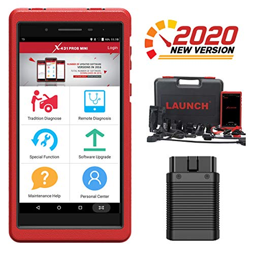 LAUNCH X431 Pros Mini Scanner(Same Functions as X431 V PRO) 30+ Reset Functions, Bi-Directional All Systems Automotive Diagnostic Scan Tool, Key Programming ECU Coding ABS Bleeding 2 Years Free Update