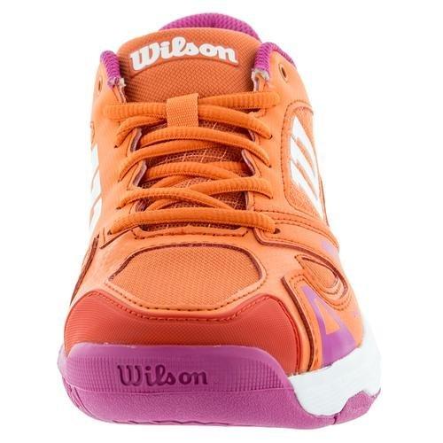 Wilson Kids Unisex Jr Rush Pro 2.5 (Little Kid/Big Kid) Nasturtium/White/Rose Violet Athletic Shoe by Wilson Kids