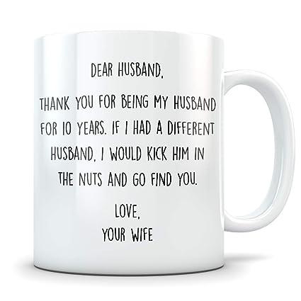 10 Year Wedding Anniversary.Amazon Com 10th Anniversary Gift For Men Funny 10 Year Wedding