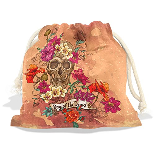 Price comparison product image Sugar Skull Dia De Los Muertos Velvet Drawstring Gift Bag Wrap Present Pouches Favor for Jewelry,  Coin,  Holiday,  Birthday,  Party