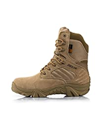 myroin Army Male Commando Combat Desert Outdoor Hiking Boots Landing Tactical Military Shoes (Size 36-46)