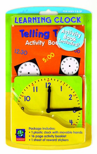Eureka Learning Playground Hands On Learning, Learning Clock (480190) (Hands Teaching Clock)