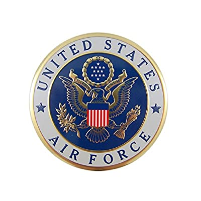 United States Military Air Force Metal Auto Decal Emblem, 4 Inch: Automotive