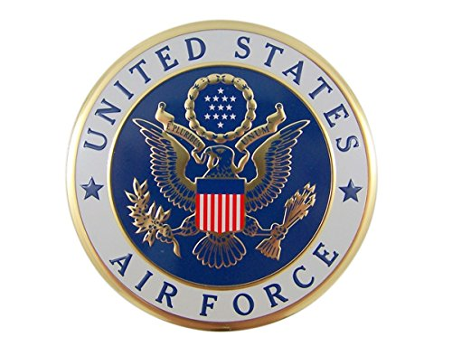 United States Military Air Force Metal Auto Decal Emblem, 4 Inch